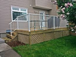 deck skirting cement patio