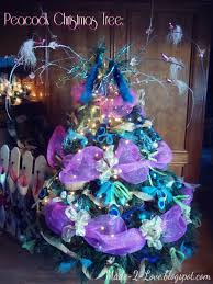 made to love peacock christmas tree