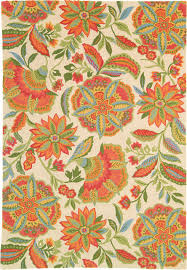 sarasa coral rug tropical living room boston by company c