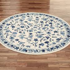 Round Traditional Rugs Bonnie Blue Round Rugs