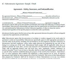 11 subcontractor agreement template for successful contractor company