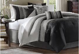 Black And Beige Comforter Sets Brenna Natural 7 Pc Queen Comforter Set Queen Linens Beige