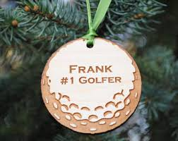 golf ornament etsy