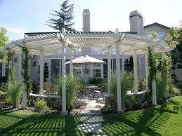pergola design ideas landscape contemporary with backyard brick
