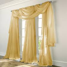 Sheer Elegance Curtains Elegance Voile Gold Sheer Curtain Bedbathhome