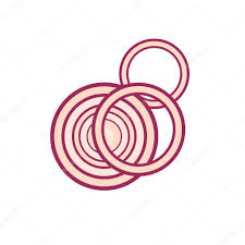 red onion rings images Red onion rings icon stock vector alejik 112790252 jpg