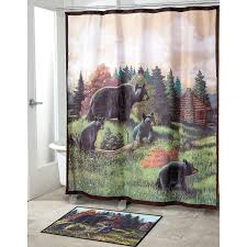 black bear lodge shower curtain collection avanti linens