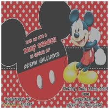 mickey mouse baby shower invitations baby shower invitation awesome mickey mouse invitations for baby