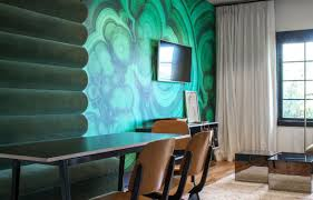 Teal Accent Wall by 4 Hip Accent Wall Ideas From Hotel Covell Cococozy