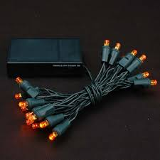 solar christmas lights orange led battery operated and solar powered christmas lights