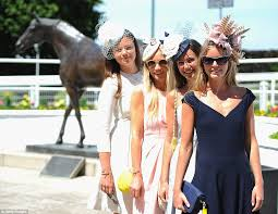 epsom ladies u0027 day sees fillies in fascinators and fancy frocks