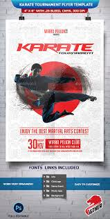 karate tournament flyer template by fighterhn graphicriver