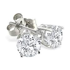 diamond stud earings colorless 1 3 carat diamond stud earrings d e f diamonds