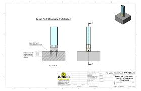 Pergola Post Anchor by Architects Pergola Retractable Deck U0026 Patio Awnings Sunair