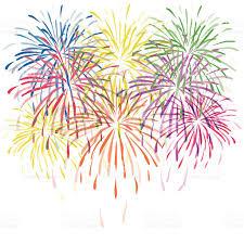 fuochi d artificio clipart fuochi dartificio colorato vettoriale con stelle e scintille su
