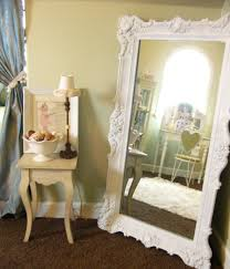 Artistic Bedroom Ideas by Artistic Bedroom Ideas With Oversized Shabby Chic Floor Mirror