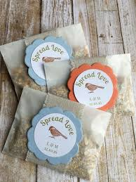 bird seed favors image result for bird seed favors in bags wedding ideas