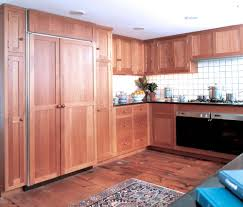 Crown Point Kitchen Cabinets by Stain Grade Appliance Faced Doors Cabinetry Revuu
