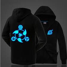 naruto one piece hoodie anime uchiha jacket zipper luminous hoodie