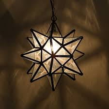 Moravian Star Ceiling Mount by 18 Inch Moravian Star Pendant Lights Clear Glass Amazon Com