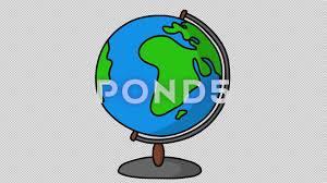 globe world atlas sketch illustration hand drawn animation