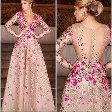 dress designer new design evening dress 2016 appliques evening gown