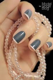 elizabellerby uñas pinterest manicure silver french