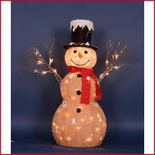 lighted snowman outdoor decoration charming light gorgeous outdoor