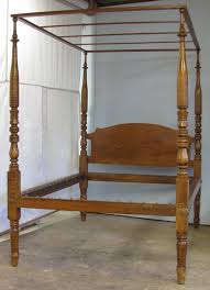 four poster antique bed