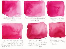 jane blundell artist watercolour comparisons 3 primary red