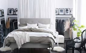 Grey Bedroom Furniture Ikea Ikea Bedrom With Innovative Hanger Behind Bed Ideas For Ikea