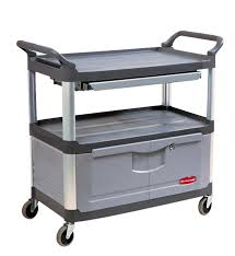 rubbermaid service cart with cabinet instrument cart 4094 sso handling storage