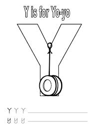 letter yo yo worksheet coloring bulk color