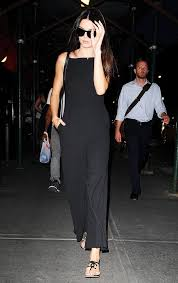 kendall jenner jumpsuit kendall jenner s guide to dressing for the holidays black