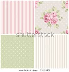 Shabby Chic Kitchen Wallpaper by Set Cute Seamless Shabby Chic Patterns Stock Vector 313723400