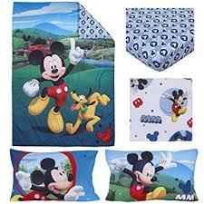 Mickey Mouse Toddler Duvet Set Amazon Com Disney 4 Piece Toddler Bedding Set Mickey Mouse