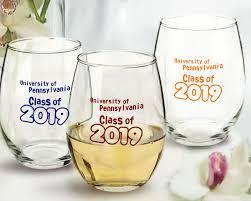 graduation wine glasses graduation personalized 9 oz stemless wine glasses arc