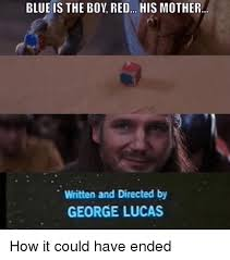 Lucas Meme - blue is the boy red his mother written and directed by george