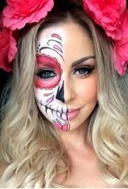 sugar skull costume half sugar skull makeup inspiration