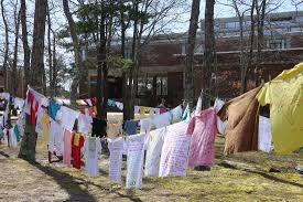 cape cod community college hosts display from the clothesline project