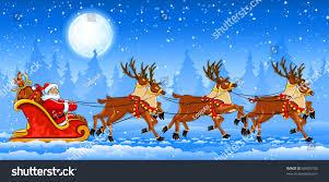 christmas santa claus riding on sleigh stock vector 63655702