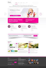 web design inspiration bright bold pop of color pink