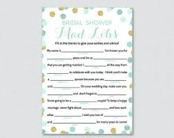 bridal mad libs etsy your place to buy and sell all things handmade