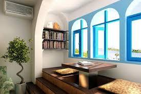 interior retro white decoration living room in mediterranean