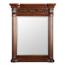 belle foret estates 28 in w x 34 in l wall mirror in rich