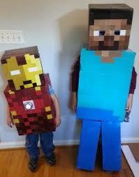 Steve Minecraft Halloween Costume Finished Minecraft Steve Herobrine Costume Sword Tnt