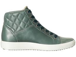 womens boots brisbane ecco 7 quilted high top womens frosty green ecco shoes