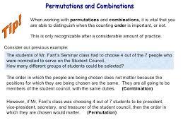 permutations u0026 combinations