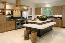 Small Kitchen With Island Design Kitchen Design Multi Level Island With Stump Stools Small