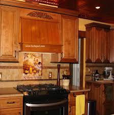 Tuscan Cabinets Kitchen Kitchen Backsplash Tile Mural Custom And Murals Tuscan